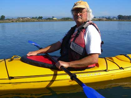 Joe Jordan kayak in Monterey Bay